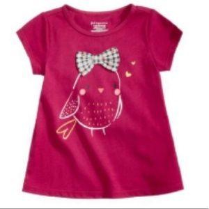 Girls Bird Shirt-NWT-Awesome Embellishments 6-9 M
